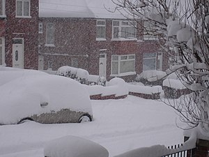 Arbourthorne - Image: Snow Sheffield 1dec 10