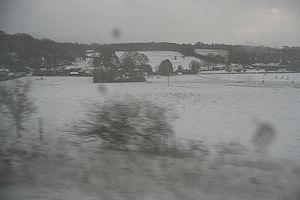 English: Snowy Steventon Taken from a passing ...