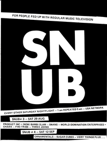 Snub TV flyer, August 1987.png