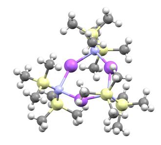 Sodium bis(trimethylsilyl)amide - Image: Sodium bis(trimethylsilyl)a mide trimer from crystal