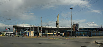 Sofia Central Station - Front view of the Central Railway Station in Sofia in 2013