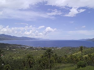 Southern Leyte - A view of Sogod Bay and the town of Sogod