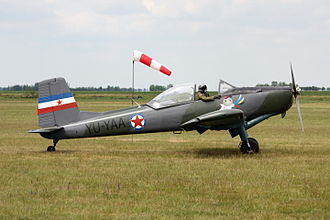 Soko J-20 Kraguj - J-20 Kraguj in private collection with Yugoslav marks at a local airshow in Serbia, 2009.
