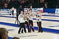 South Korea women's national curling team at WWCC on March 2018 (Draw 9) - 4.jpg