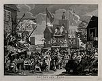 Southwark Fair, a renowned place of amusement, with a variet Wellcome V0049234.jpg