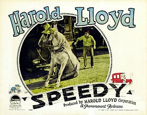 Speedy (film) - Lobby card