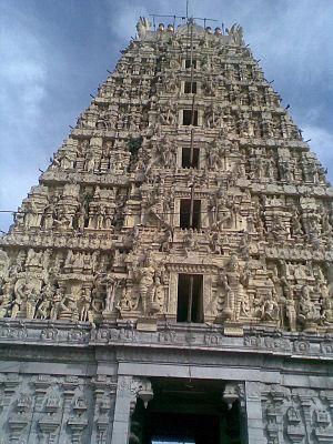 Ranganatha Temple, Nellore - Image: Sri Ranganathaswamy Temple, Galigopuram, Nellore (11)