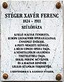 Stéger Xavér Ferenc plaque (Szentendre Dumtsa Jenő u 10).jpg