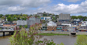 Saint-Georges, Quebec - A view of Saint-Georges, with the CEGEP at the top of the hill.