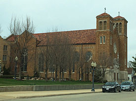 St Anthony of Padua Church in south Rockford, edited