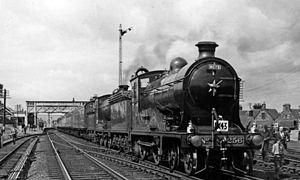 Waverley Route - NBR K Class No. 256 Glen Douglas at St Boswells in 1961.