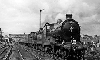 Waverley Route - NBR K Class No. 256 Glen Douglas at St Boswells in 1961.