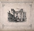 St John's Gate, Clerkenwell, London; the north side. Lithogr Wellcome V0013157.jpg