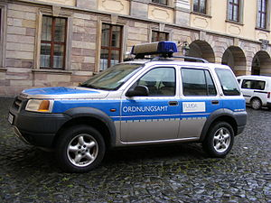 Code enforcement - Patrol car of Ordnungsamt Fulda, Germany