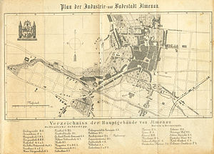 Ilmenau - City map (1890)