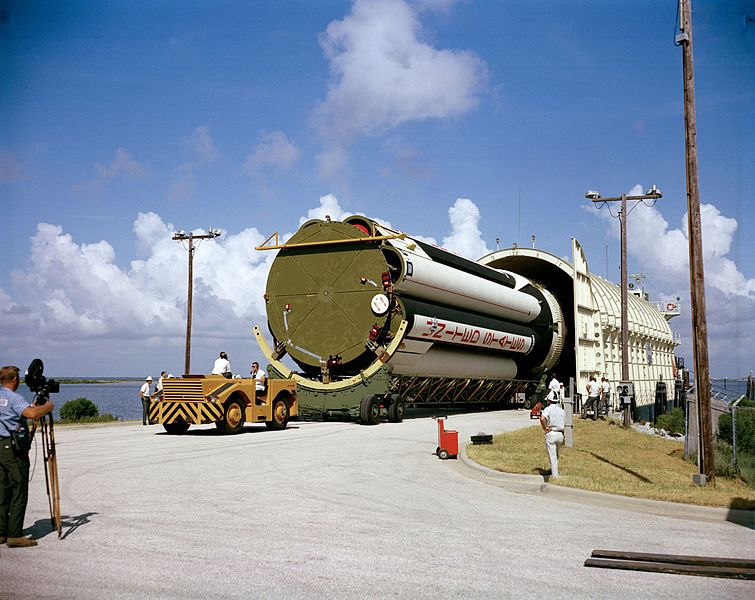 File:Stage of Saturn I launch vehicle for AS-204 mission.jpg