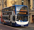 Stagecoach in Newcastle bus 19382 Alexander Dennis Trident 2 Enviro 400 NK58 AEW in Newcastle 3 April 2009.JPG