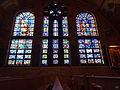 Stained glass windows, northwest wall; Transfiguration Greek Orthodox Church; Lowell, MA; 2012-05-19.jpg
