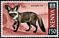 Stamp of Kenya - 1969 - Bat-eared Fox - Otocyon megalotis.jpeg