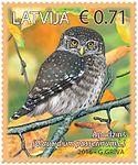 Stamp of Latvia 2016 Glaucidium passerinum.jpg