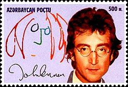 1995 stamp of Azerbaijan featuring John Lennon