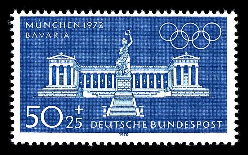 Datei:Stamps of Germany (BRD), Olympiade 1972, Ausgabe 1970, 50 Pf.jpg