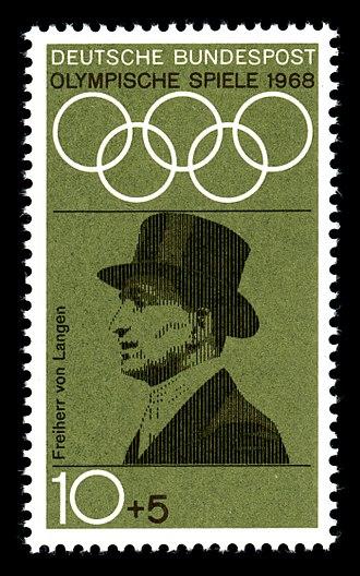 Carl Freiherr von Langen - German stamp