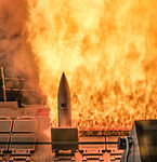 Standard Missile 2 fired from forward missile deck of USS William P. Lawrence (DDG-110).JPG