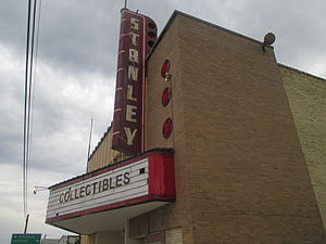 Luling, Texas - Though it once aired regular films, the Stanley Theatre in Luling now houses collectibles.