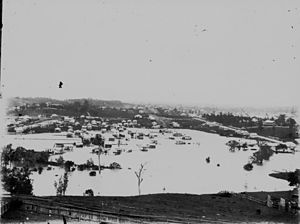 Enoggera Creek - Flooding around Enoggera Creek, Windsor, 1893