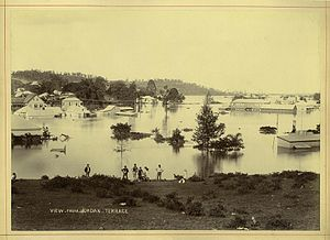 Bowen Hills, Queensland - Suburb in flood, 1893