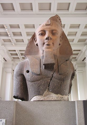 Ozymandias - The Younger Memnon statue of Ramesses II in the British Museum. Its imminent arrival in London may have inspired the poem.