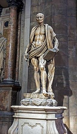 Statue of St Bartholomew flayed, Milan Duomo