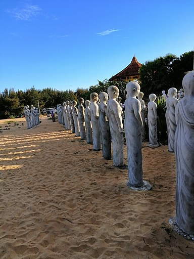 Statues Of Ancient Monks Of Anuradhapura