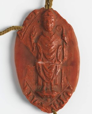 Stephen I Báncsa - Seal of Cardinal Stephen Báncsa (1270)