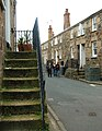 Stepped doorways, Back Road East, St Ives - geograph.org.uk - 1549517.jpg