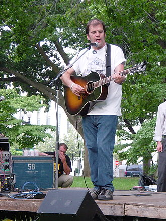 Steve Earle - Earle performing in front of the United States Supreme Court on July 1, 2003