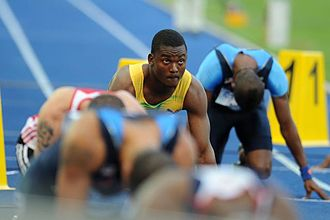 2009 World Championships in Athletics – Men's 200 metres - Steve Mullings prepares for the second semi-final