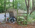 Stile on Public Footpath leaving B2110 at The Warren, Near Handcross, West Sussex - geograph.org.uk - 63473.jpg