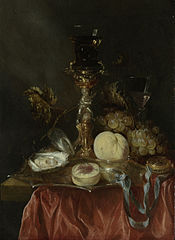 Still Life with Silver-gilt Bekerschroef with Roemer
