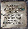 Stolperstein für Alfred Kohn