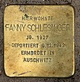 Stolperstein Bartningallee 3 (Hansa) Fanny Schlesinger.jpg