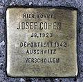 Stolperstein Brückenstr 5 (Mitte) Josef Cohen.jpg
