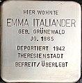Stolperstein Emma Italiander1.jpg