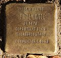 Stolperstein Falkentaler Steig 16 (Hermd) Paul Latte.jpg