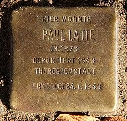 Photo of Paul Latte brass plaque
