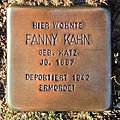 Stolperstein Fanny Kahn (Griedeler Str.15 Butzbach).jpg