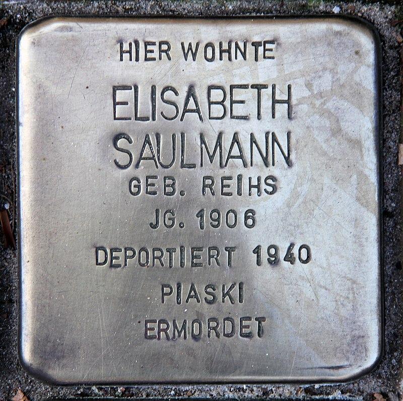Stolperstein Friedenstr 17 (Heringsdorf) Elisabeth Saulmann.jpg