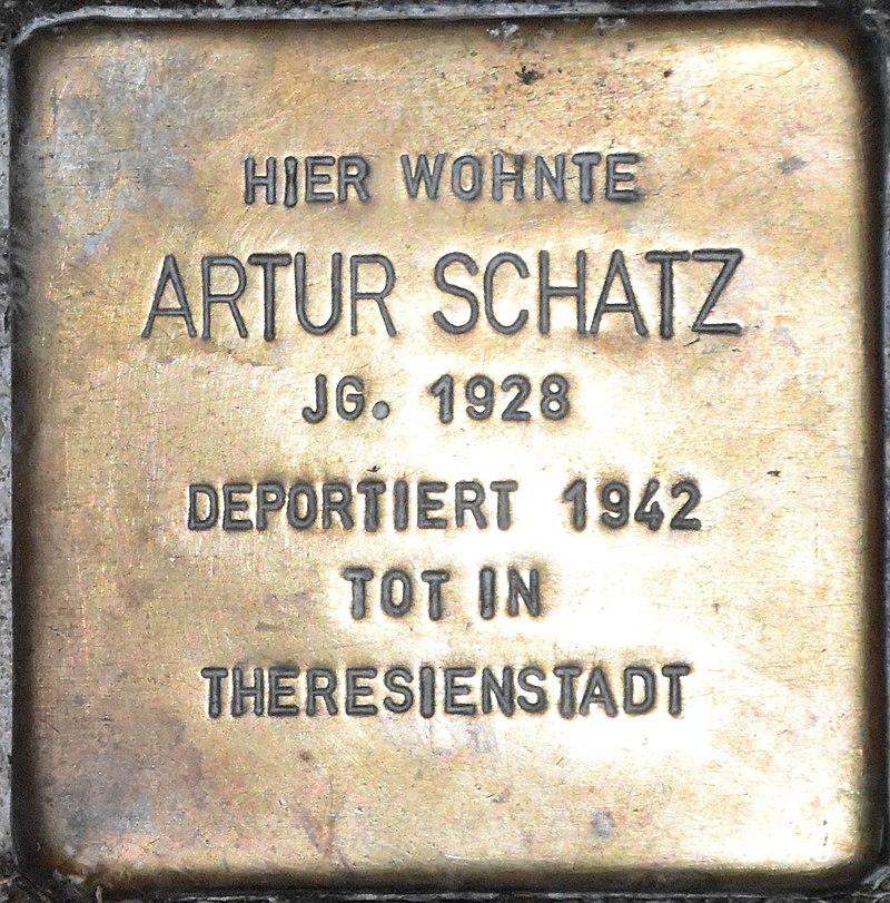 Stolperstein Güstrow Krönchenhagen 13 Schatz Artur