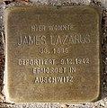 Stolperstein Gartenstr 114 (Mitte) James Lazarus.jpg